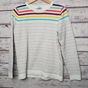 Talbots Rainbow Stripe Sweater Size Large Top